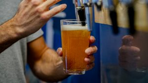 5 Ways to Brighten Your Winter Walk. Image of a freshly poured Belleville Brewery pint of beer