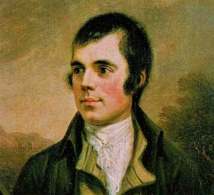 5 of our Favourite Burns Night Craft Beer and Food Pairings. Painting of Robert Burns